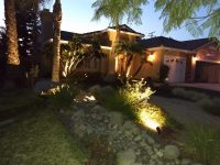 image of a residential front yard done by Butch B Electric did